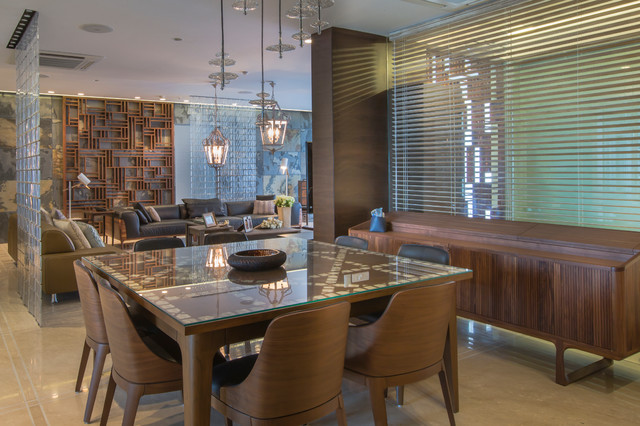 Sky High Duplex Apartment contemporary-dining-room