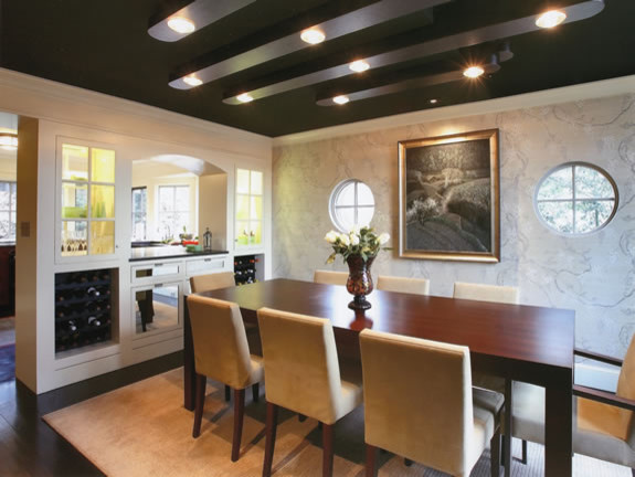 Sleek dining room for Dining room questionnaire