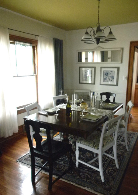 Small budget dining room redesign traditional dining for Small dining room ideas houzz