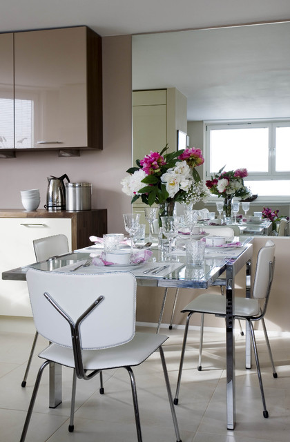 Small chelsea apartment contemporary dining room london by celia james - Small apartment dining room ...