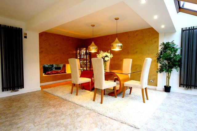 Small Conservatory Extension Contemporary Dining Room