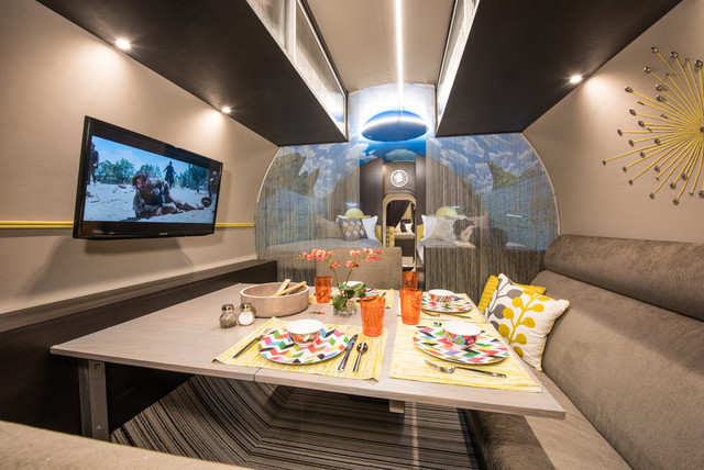 Small Family Dining With Tv Stylish Underground Shelter