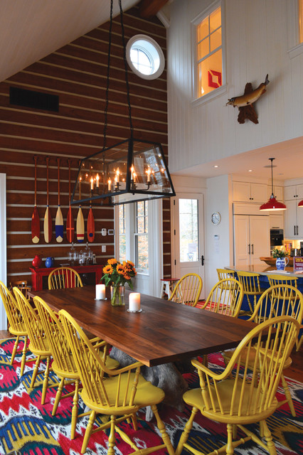 Small Funky Cottage Rustic Dining Room Toronto By