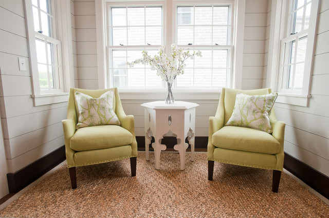 Small Sitting Area Off The Kitchen Coastal Dining Room Boston By Nantucket Looms Houzz Uk