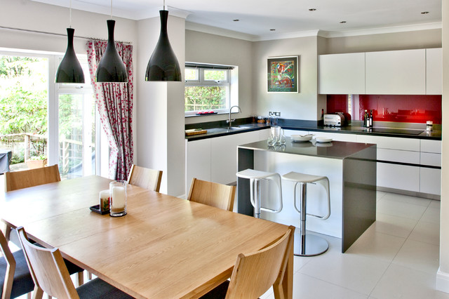 Small space, big kitchen - Contemporary - Dining Room ...