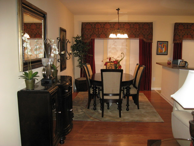 Small space traditional dining room raleigh by for Small dining room ideas houzz