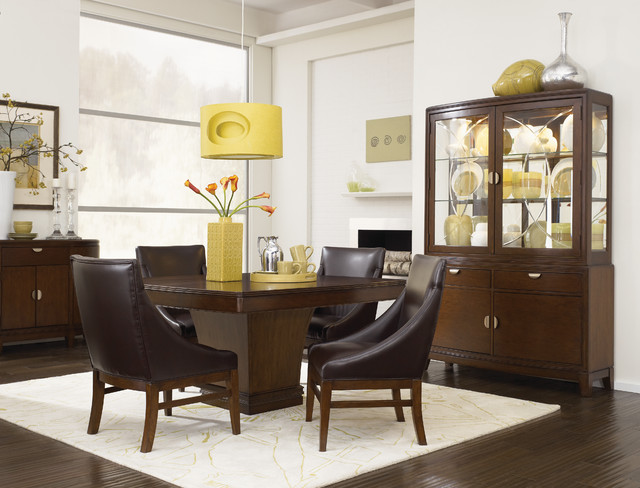 Small space dining room with big style contemporary for Small modern dining room