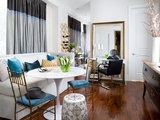 eclectic dining room Living Room Meets Dining Room: The New Way to Eat In (12 photos)