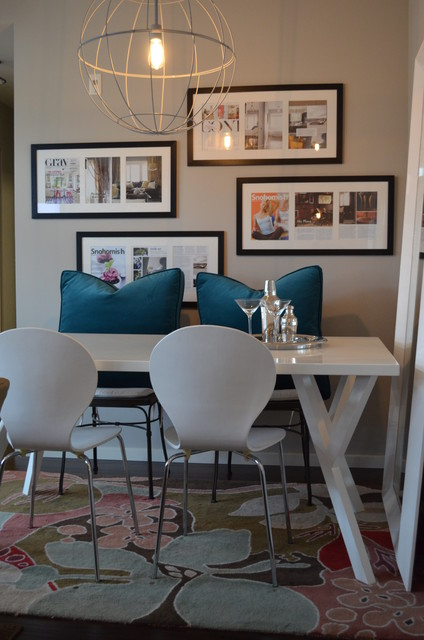 Small spaces contemporary dining room seattle by for Small modern dining room