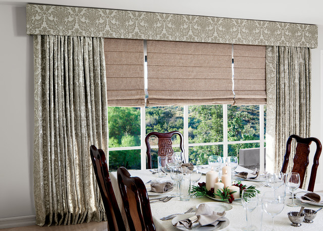 Smith noble curtains drapery traditional dining for Smith and noble shades