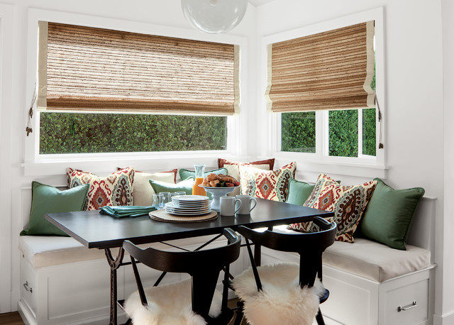 Smith noble natural woven shades eclectic dining for Smith and noble natural woven shades