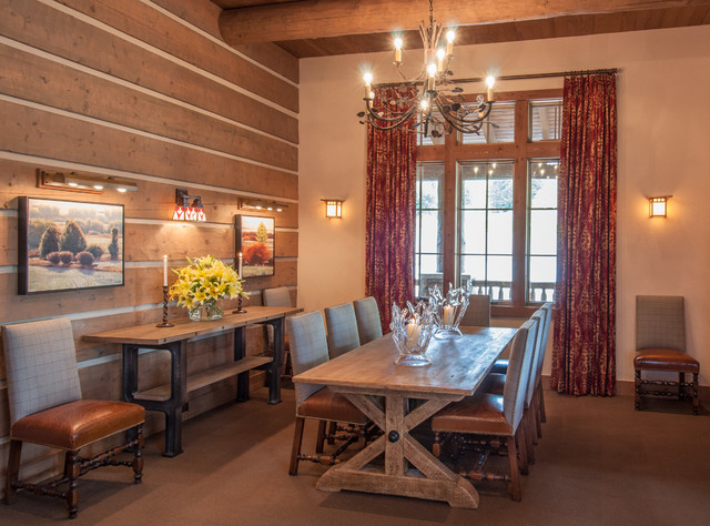 Snake River Sporting Club rustic-dining-room