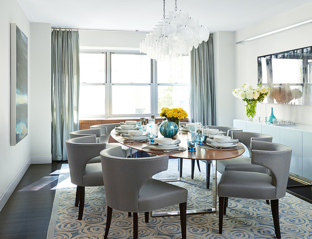 Soft Modern Manhattan Residence Contemporary Dining Room
