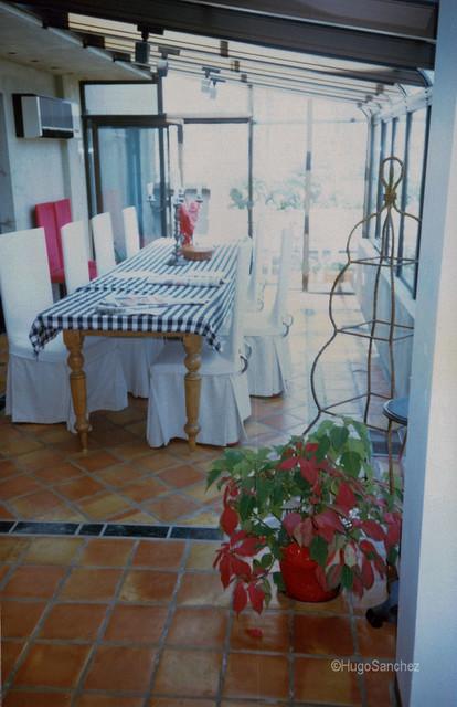 solarium terracotta floor traditional-dining-room