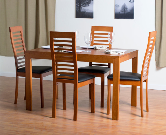 Solid Wood Dining Collection Contemporary Dining Room