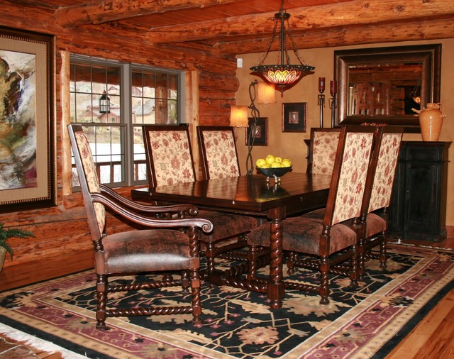 Sophisticated Cabin Rustic Dining Room Phoenix By