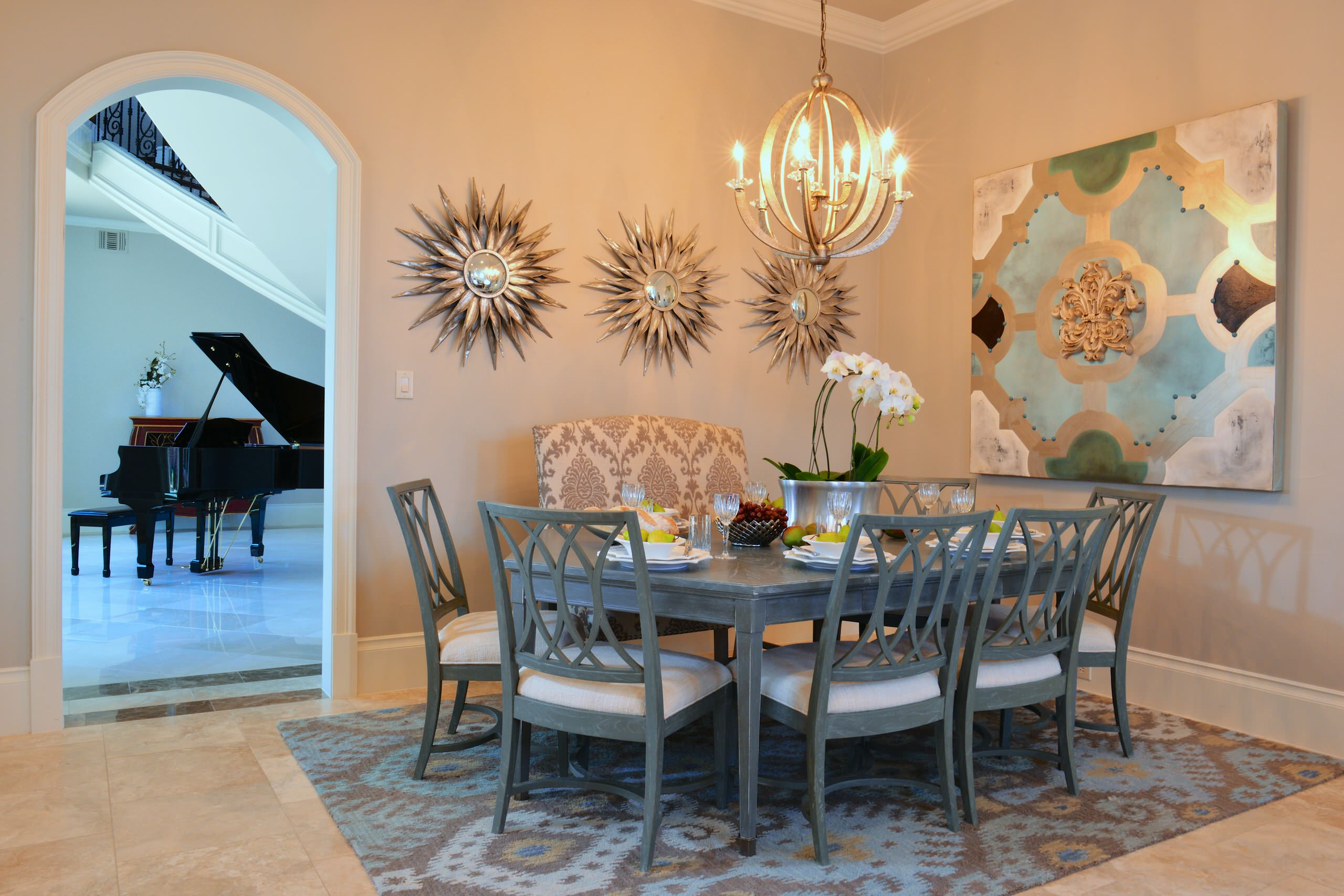 Hexagon Dining Table Houzz, Hexagon Dining Room Table