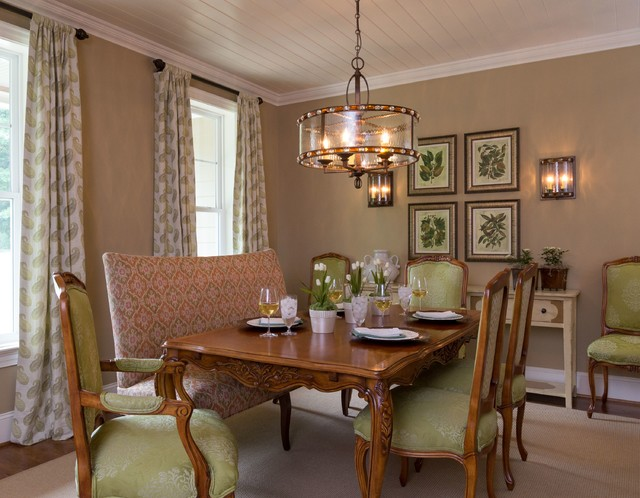Sophisticated Farmhouse Traditional Dining Room