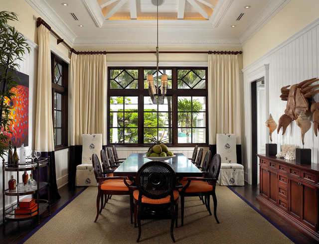 Sophisticated key west style eclectic dining room for Eclectic dining room designs
