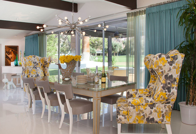 South Canyon: Colorful Modern Mix midcentury-dining-room