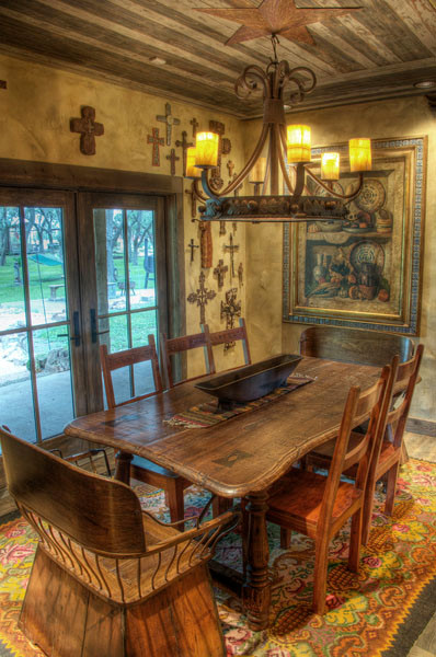 South texas ranch rustic dining room austin by for Decoration maison western