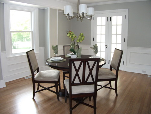 Behr Dolphin Fin Dining Room by Black Rock Homes