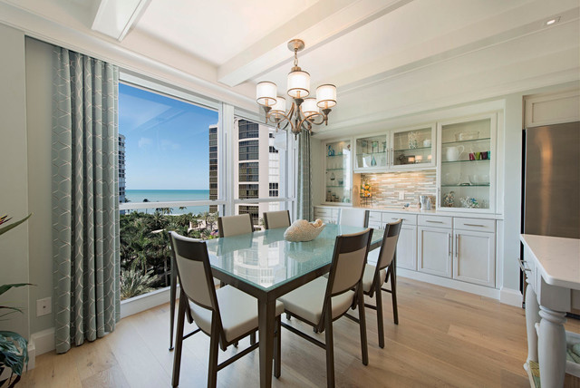 South West Florida Beachfront Condo Beach Style Dining Room Tampa By Designenvy Interiors