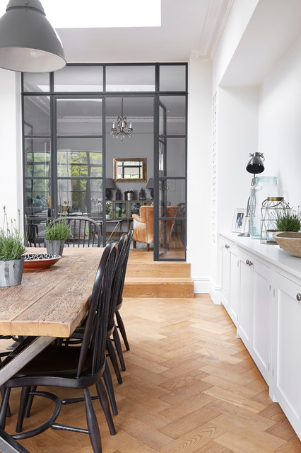 South West London : industrial dining room from www.houzz.com.au size 426 x 640 jpeg 80kB
