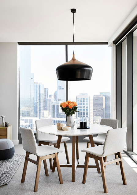Southbank apartment melbourne contemporary dining for Dining room 211 melbourne