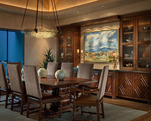 Southwest Contemporary Southwestern Dining Room