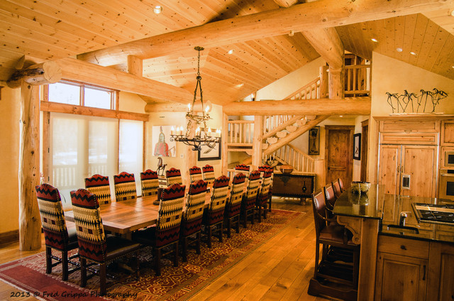 Southwestern Mountain Traditional Dining Room Denver