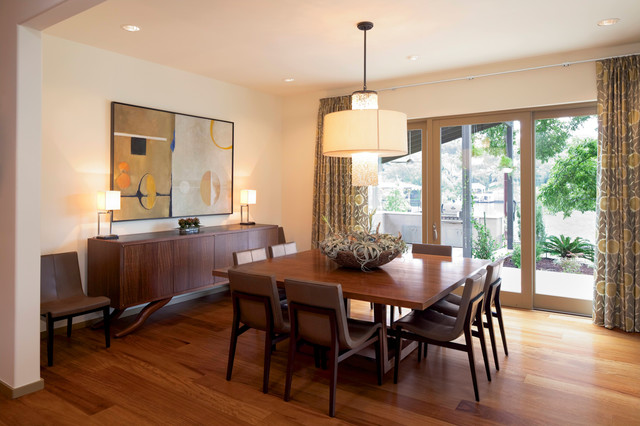 Charmant Inspiration For A Contemporary Dining Room Remodel In Austin