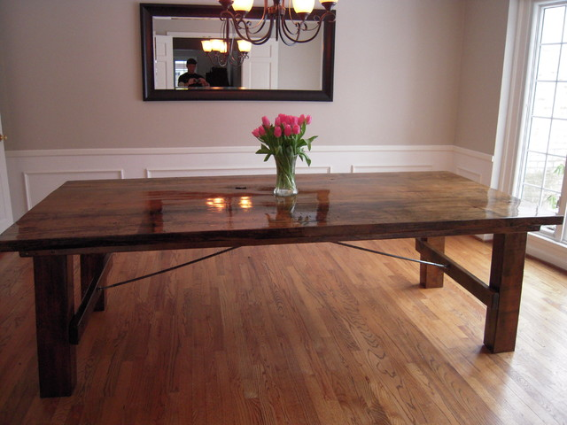 spalted maple table traditional dining room detroit by sanford customs. Black Bedroom Furniture Sets. Home Design Ideas