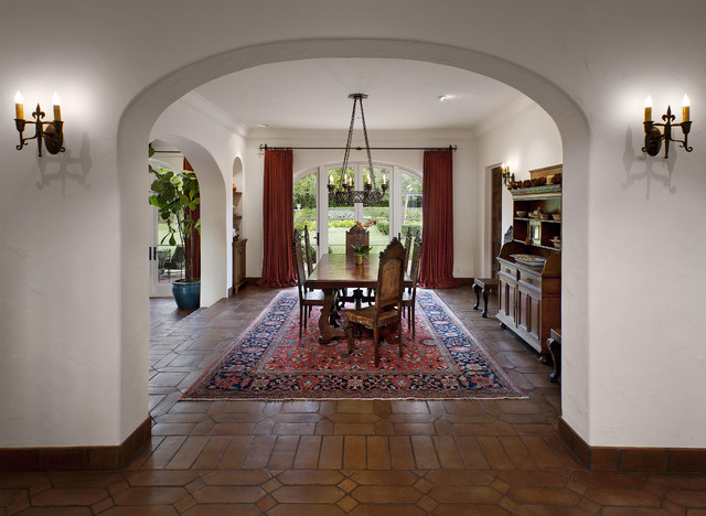 Spanish Colonial Mediterranean Dining Room Santa