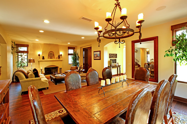 Spanish colonial revival mediterranean dining room los angeles by structure for Spanish colonial revival living room