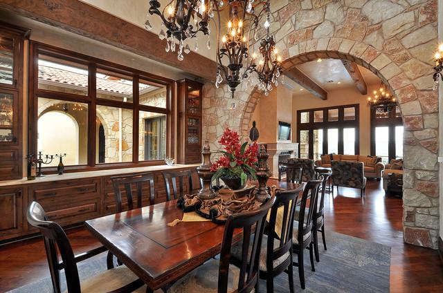 Spanish Oaks Residence traditional-dining-room