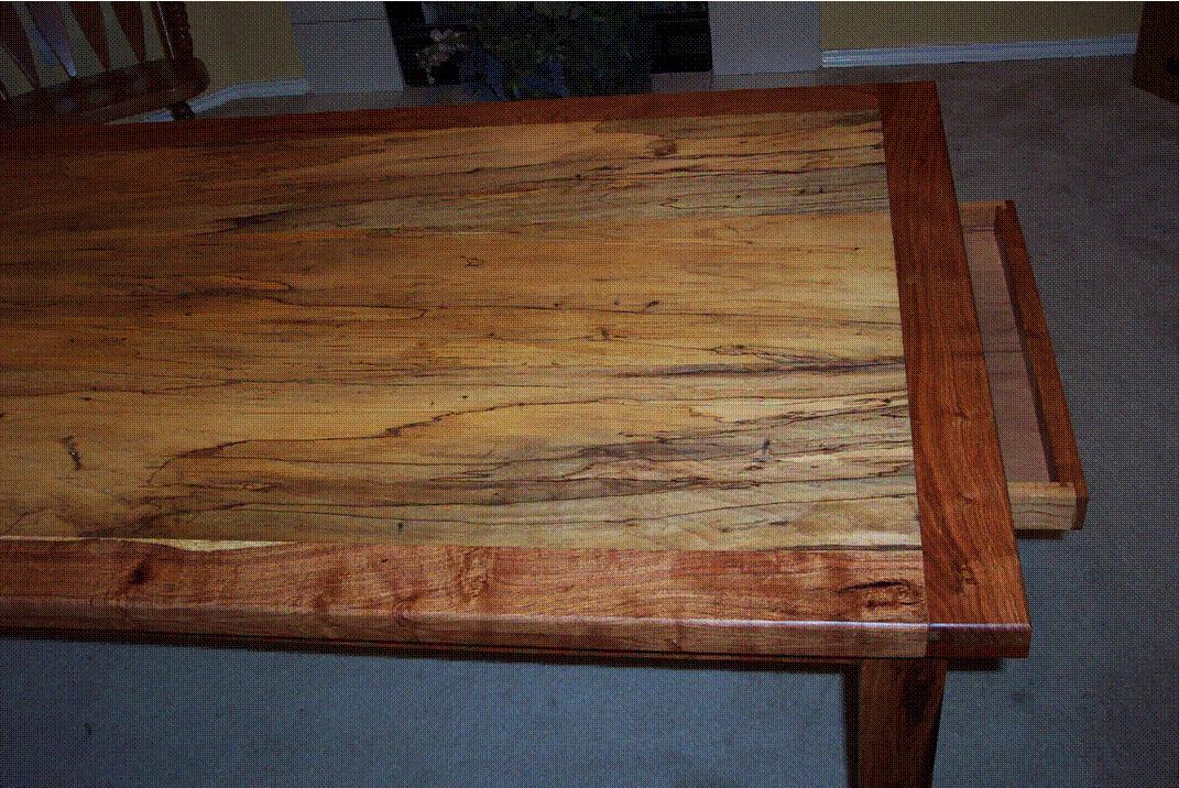 Spaulted Pecan Table w/Mesquite Edge