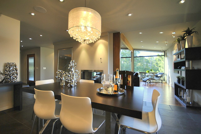 spectacular dining space in open concept fully renovated 2 story home contemporary dining - Open Dining Room