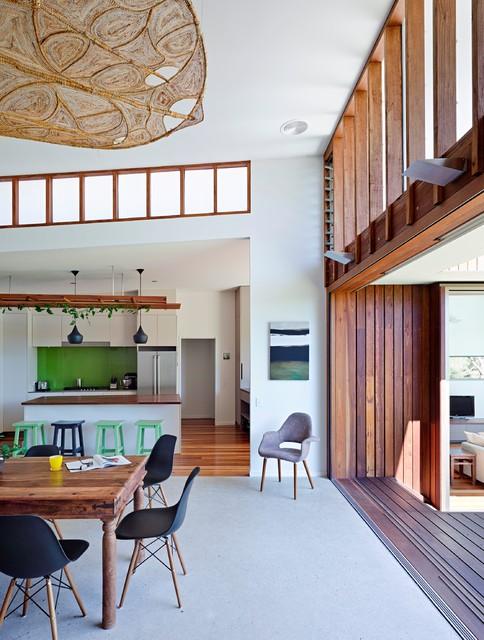 Spoonbill House Peregian Beach Sunshine Coast Queensland Contemporary Dining Room
