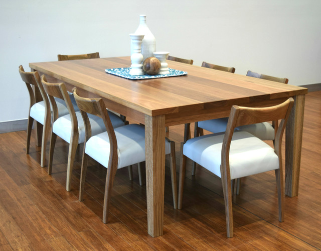 Spotted gum 39 forbes 39 table with 39 newport 39 chairs beach for Dining room tables brisbane