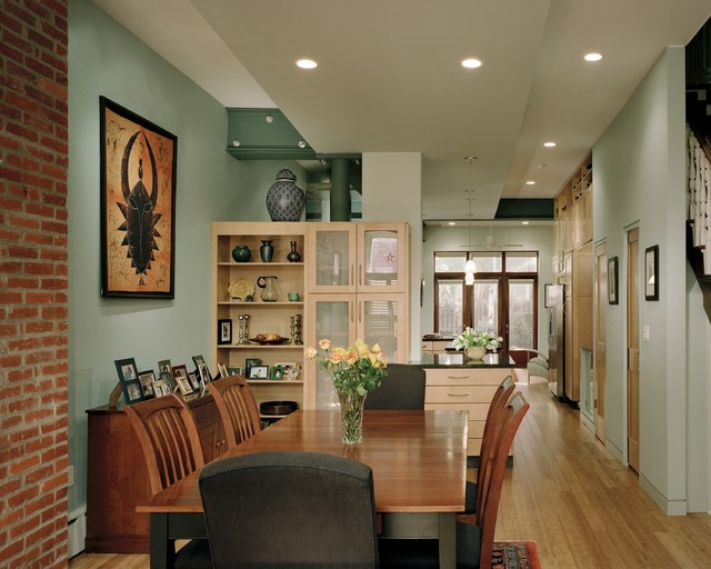 spring garden row home dining room contemporary dining