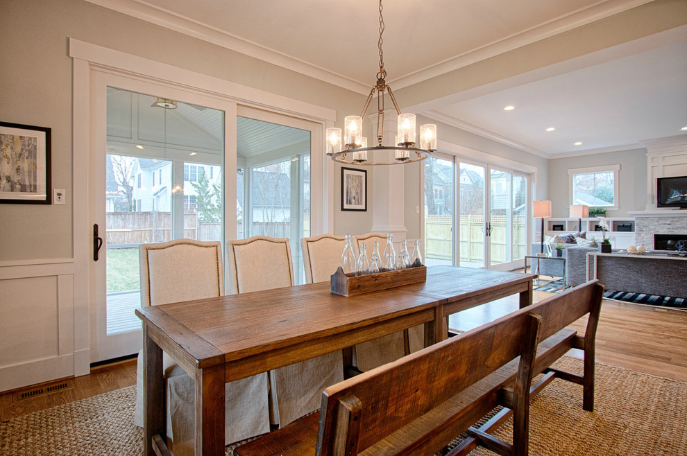 Dining room - transitional dining room idea in DC Metro
