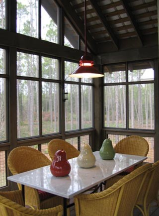 St. Joe's River Camps tropical-dining-room