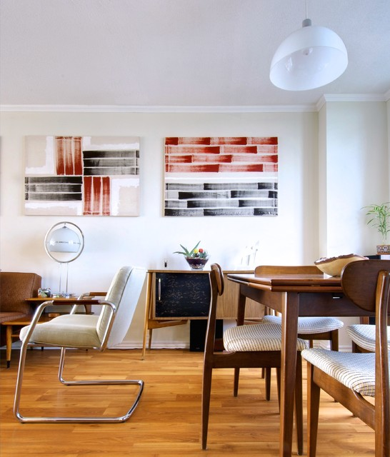 midcentury dining room by Andrew Snow Photography