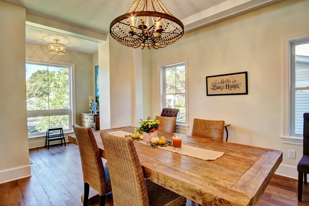 Inspiration for a country dining room remodel in Minneapolis