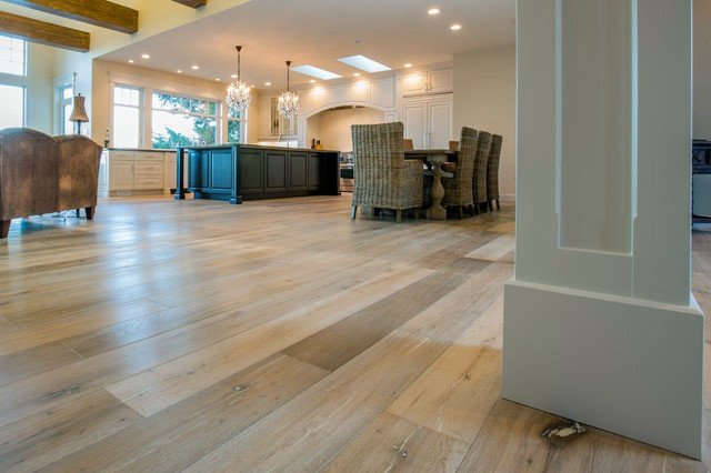 St Moritz Hardwood Flooring Beach Style Dining Room