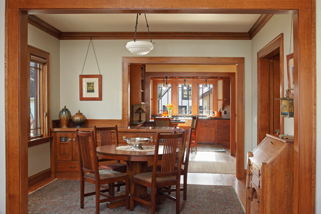 St. Paul Bungalow Remodel craftsman-dining-room