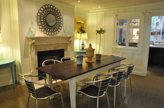 St. Simons Island, GA home staging contemporary dining room