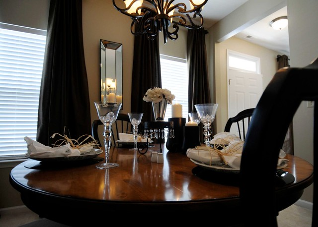 Staged and sold in less than one week traditional-dining-room