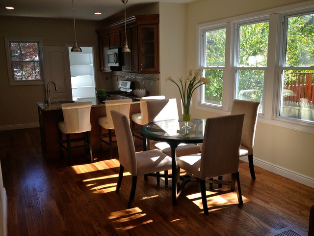 rehabbed small house design traditional dining room new york
